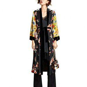 Colorful Floral and Polka Dot Kimono